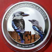 Australien 1 Dollar 2017 Kookaburra 1 oz  #F3804 ST-BU Nur 2.000 Coloured rare