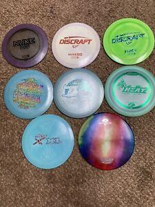 8-used Discraft Disc Golf Discs