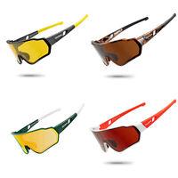 ROCKBROS Polarisierte Sonnenbrille Fahrradbrille Sportbrille UV400 Schutz 4Farbe