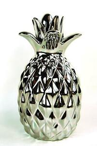 Pineapple Silver Ornament Figure Decoration Large Modern standing Pineapple