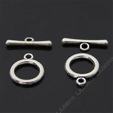 10 Sets Retro Tibetan Silver Toggle Clasps Findings For Necklace Bracelet B464P