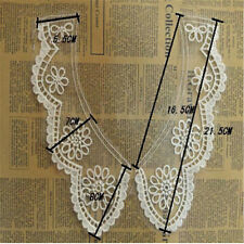 1pc Embroidered Floral DIY Neckline Lace Neck Collar Trim Sewing Applique Craft