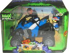 2008 Max Steel Tyco R/C Quad Extreme Radio Control ATV 1:6 Vehicle with Figure
