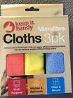 Microfibre Keep It Handy Cloths 3Pk X 4