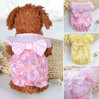 Pet Dog Floral Soft Breathable Skirt For Cute Sweet Puppy Princess Dress GIFT