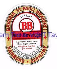 BB St Pauli Brauerei Malt Beverage 11 US oz Hamburg  Tavern TRove