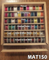 Assorted Fly tying Floss Tinsel Thread Wool Copper & Lead Wire -72 rolls- MAT150