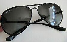 Ray Ban RB 4180 601-T3 3P Aviator Liteforce Black Green Polarized Sunglasses P3