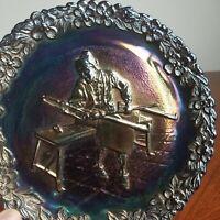 FENTON Carnival Glass Commemorative No. 1 Plate Annual Series of Collectors 1970