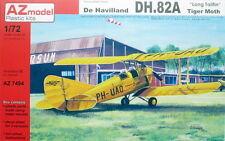 AZ Models 1/72 de Havilland DH.82A Tigre Moth con largas tailfin # 74094