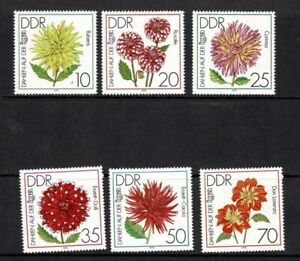 EAST GERMANY DDR 1979 DAHLIAS IGA GARDEN EXHIB SET OF 6 MINT NEVER HINGED MNH