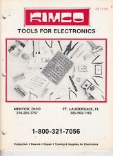 1981 KIMCO - Electronics / Tools / Xcelite products Catalog , Mentor Ohio  /q2