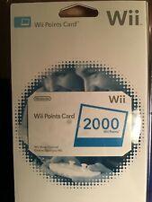 Nintendo Wii Points Card 2000 wii Points NIP