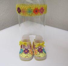 Scarpe neonata con fascia Calzature neonata eleganti.Fascia per capelli neonata
