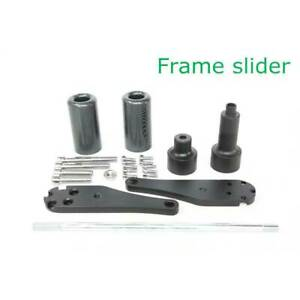 No Cut Frame Slider Crash Protector Kit For 2006-2007 Kawasaki ZX-10R 06 Black