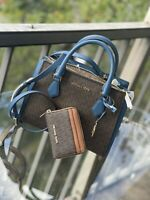 Michael Kors Women Leather Crossbody Bag Handbag Purse Satchel Shoulder+Wallet