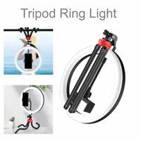 LED Ring Light Selfie Ring Lamp with Phone Holder Flexible Tripod