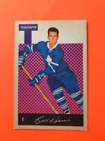 Bill Harris 1962-63 Parkhurst Hockey Card #1 Toronto Maple Leafs  See Photos
