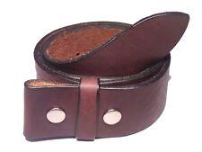 Dark Brown Leather Belt Strap 1 3/4 Inch Wide (45mm) American Style Buckle Strap
