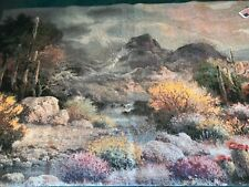 Desert Landscape in Bloom-Wall hanging -Tapestry- made in USA