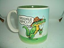 CRYSTAL CRAFT AUSTRALIA 1986  Crocodile Who??  MUG. Sell for Charity