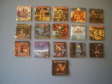 Dolls House miniatures - Music albums - IRON MAIDEN x 16