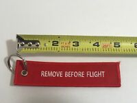 Dassault Falcon 2000LXS Remove Before Keychain Red White Pilot Bag Aviator Fly