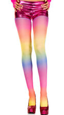 One Size Fits Most Womens Opaque Rainbow Tights