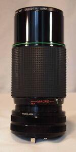 Hanimex MC zoom 80-200mm lens with Skylight filter