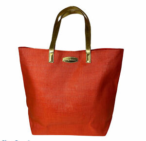 Tommy Bahama Tote Bag Orange Beach Summer Magnetic Closure