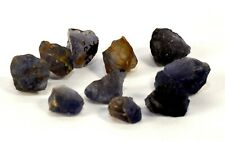 35.5ct Gem Blue Iolite Cordierite Rough Mineral Stone Crystals - Africa (10pcs)