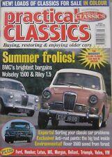 Practical Classics magazine August 1997 featuring Reliant Scimitar GTE, Citroen
