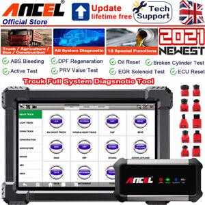 ANCEL LGV Truck Diagnostic OBD2 Scanner All System ABS DPF Active Test Tablet
