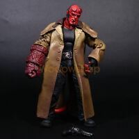 """Hellboy Mezco HB 7"""" Action Figure Smoking Ver. Series 2 Collection Loose No Box"""