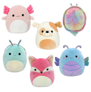 Squishmallows Dragonfly, Cheetah, Dog, Snail Wave 5 18cm Choice of Characters