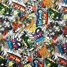 Wassertransferdruck Folie Music Stickerbomb - 50cm breit