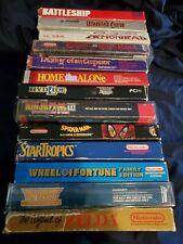 Lot of 13 Boxed NES Nintendo Games! Ninja Gaiden 3 WURM Zelda Conquest Destiny