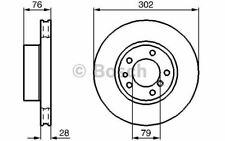 2x BOSCH Disques de Frein Avant Ventilé 302mm pour BMW Série 7 0 986 478 317