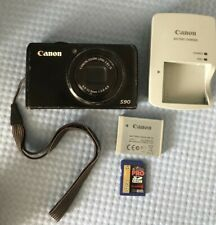 Canon Powershot S90 Digital Camera PC1429 w/ Charger, 32 GB SD Card & Battery