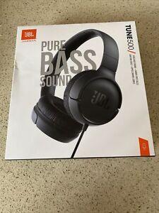 JBL Tune 500 Pure Bass Sound&HandsFree Calls Black- New/ 17h Max Batt Life
