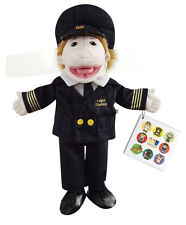 Flat Friends Flight Captain Boy Hand Puppet