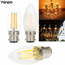Retro Dimmable LED Chandelier Candle Light Edison Bulb B22 4W 6W Filament Lamp
