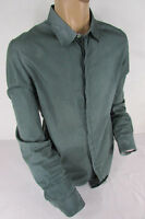 Emporio Armani Men Green White Squares Plaid Classic Dress Shirt Long Sleeves XL