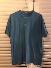 "Be Present Yoga Mens Blue Short Sleeve T-shirt ""Be Love"" Size XL 100% Cotton"