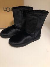 UGG Classic Short II Velvet Black Size 8 Women's Mid-Calf Suede Boots 1110411