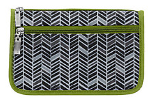 New Without Tags Baggallini Wedge Cosmetic Case - Chevron - Sample
