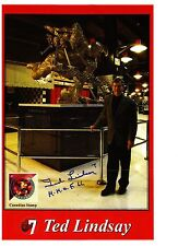Ted Lindsay-Reprint autograph on Detroit Red Wing Stadium Booklet