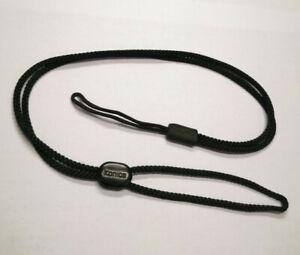 """Genuine Konica Big Mini A4 Branded Compact Camera Neck Strap Cord 21"""" Black"""