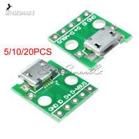 5/10/20PCS MICRO USB To DIP Adapter 5pin Female Connector PCB Converter DIY Kit