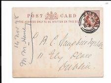 IRELAND 1898 ½d POSTAL STATIONARY CARD NENAGH CANCEL